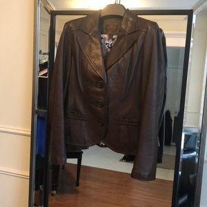 Danier Italian Leather Brown Blazer size S